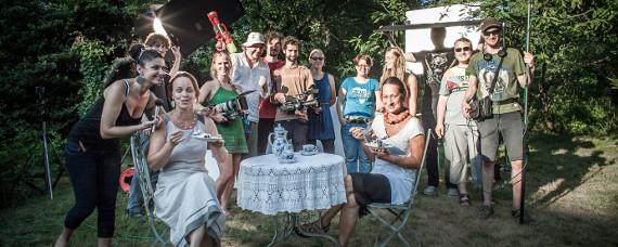 Team des Sukuma Award beim Filmdreh