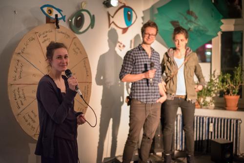 Die Speakers Corner beim Auftakt-Abend von Stories of Change.