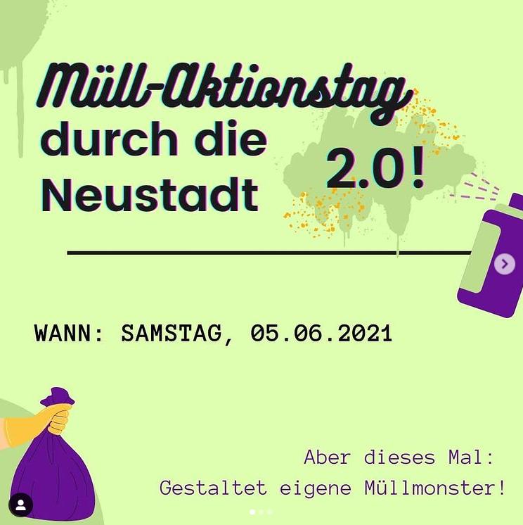 Müll-Aktionstag am 05. Juni in der Dresdner Neustadt!